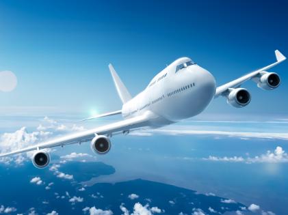 Vliegtuig in luchtruim
